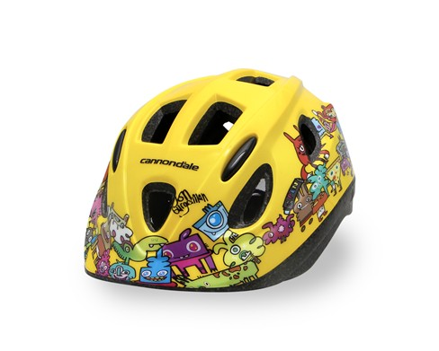 Cannondale Burgerman Colab Kids Helmet Yellow S/M
