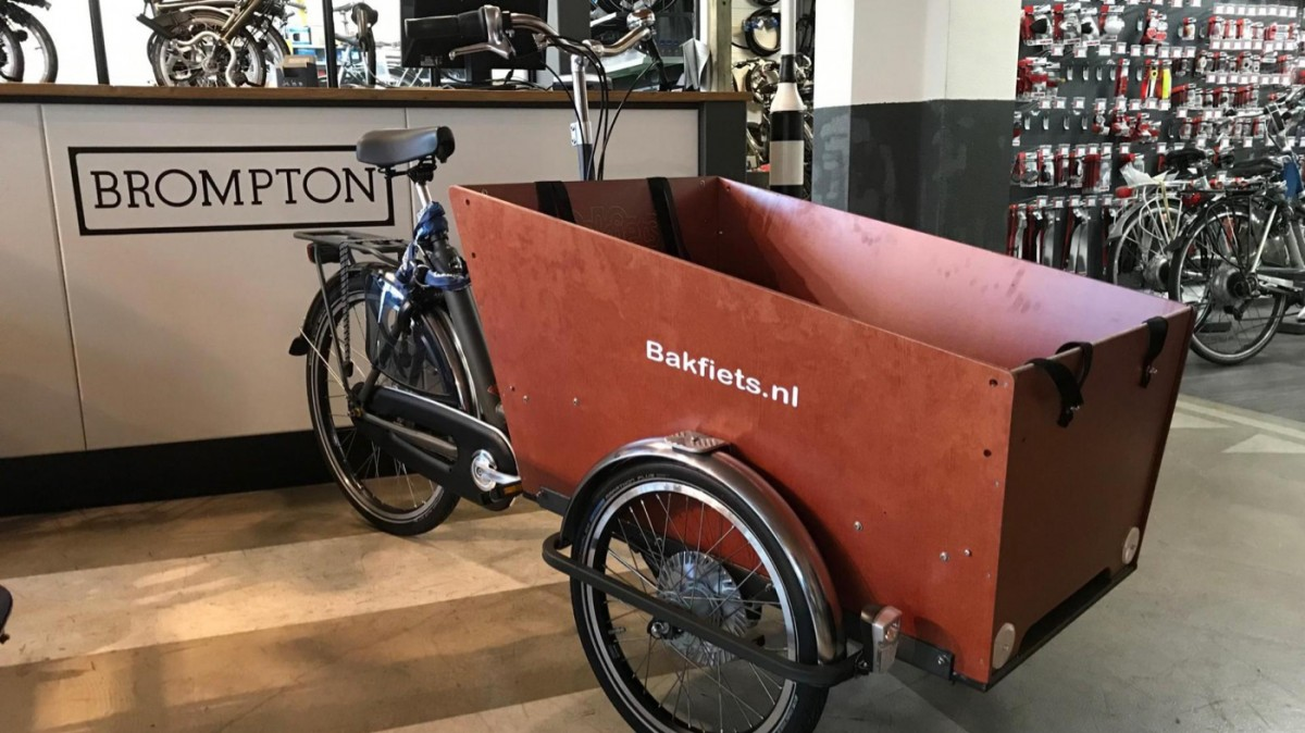 Bakfiets.nl Cargotrike Classic Narrow N7 , Antraciet