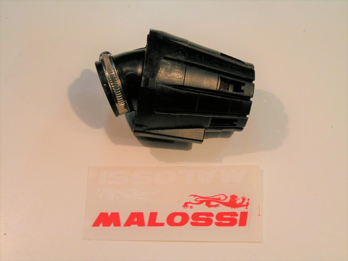 POWERFILTER MALOSSI 38MM ZWART/ROOD PHBL e5