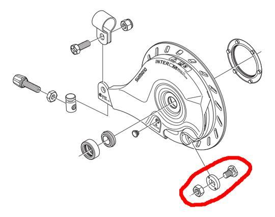 Shimano Kabelklem-set a-rem br-im45r nexus rollerbr.