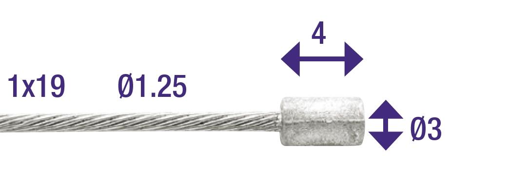 Elvedes Kabel gas binnen 49 draads 2.25mtr 6413/49