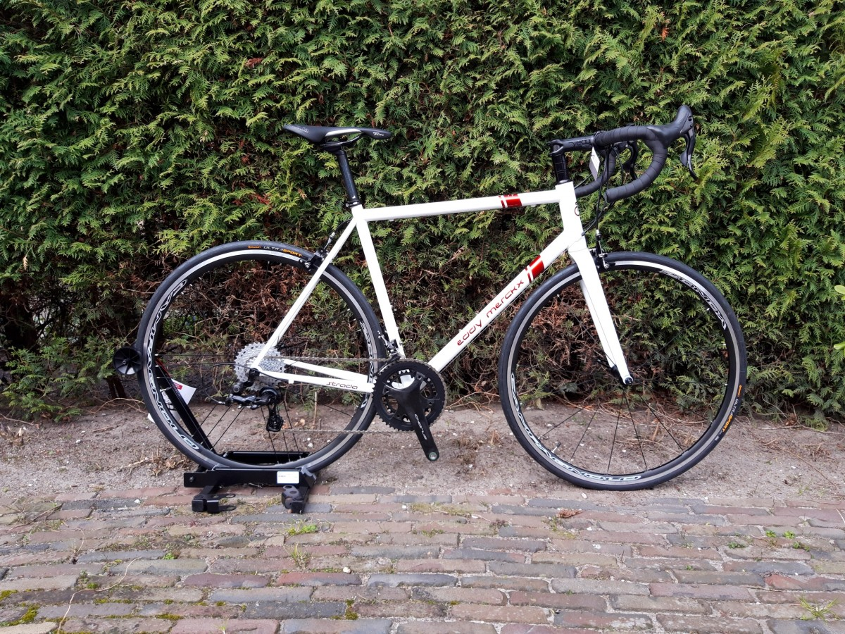 Eddy Merckx Strada Steel Campagnolo Chorus 2x12s., Wit