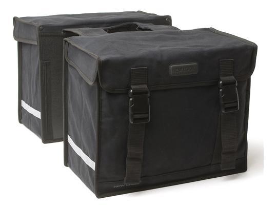 Tas New looxs canvas camping dubbel zwart