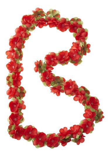 Basil Slinger bas flower garland bloemenstreng rood