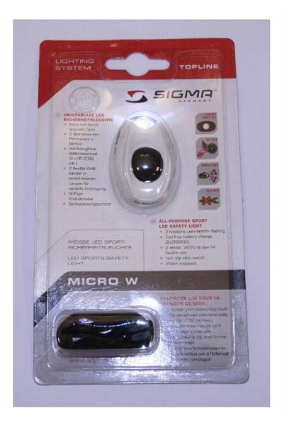 Koplamp Sigma op batt micro white