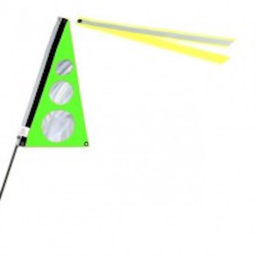 Traumvelo Fietsvlag ligfiets maat S kleur groen