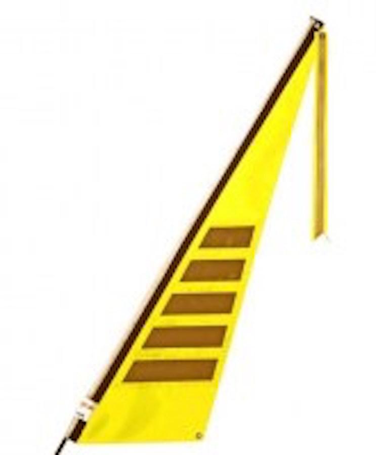 Traumvelo Fietsvlag ligfiets maat L kleur geel