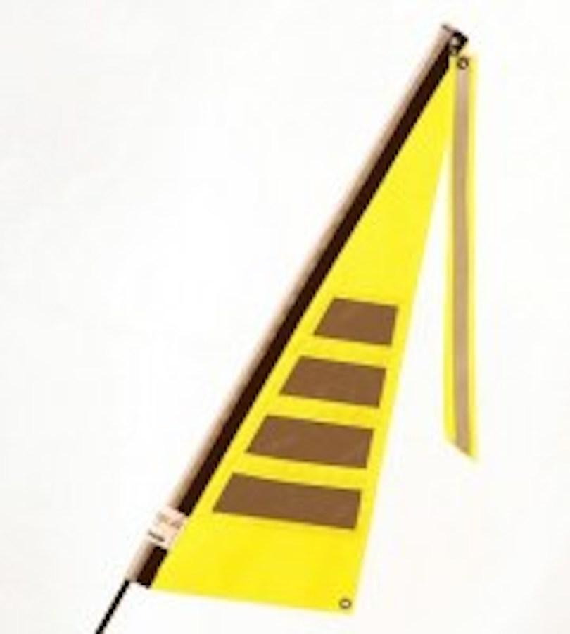 Traumvelo Fietsvlag ligfiets maat M kleur geel