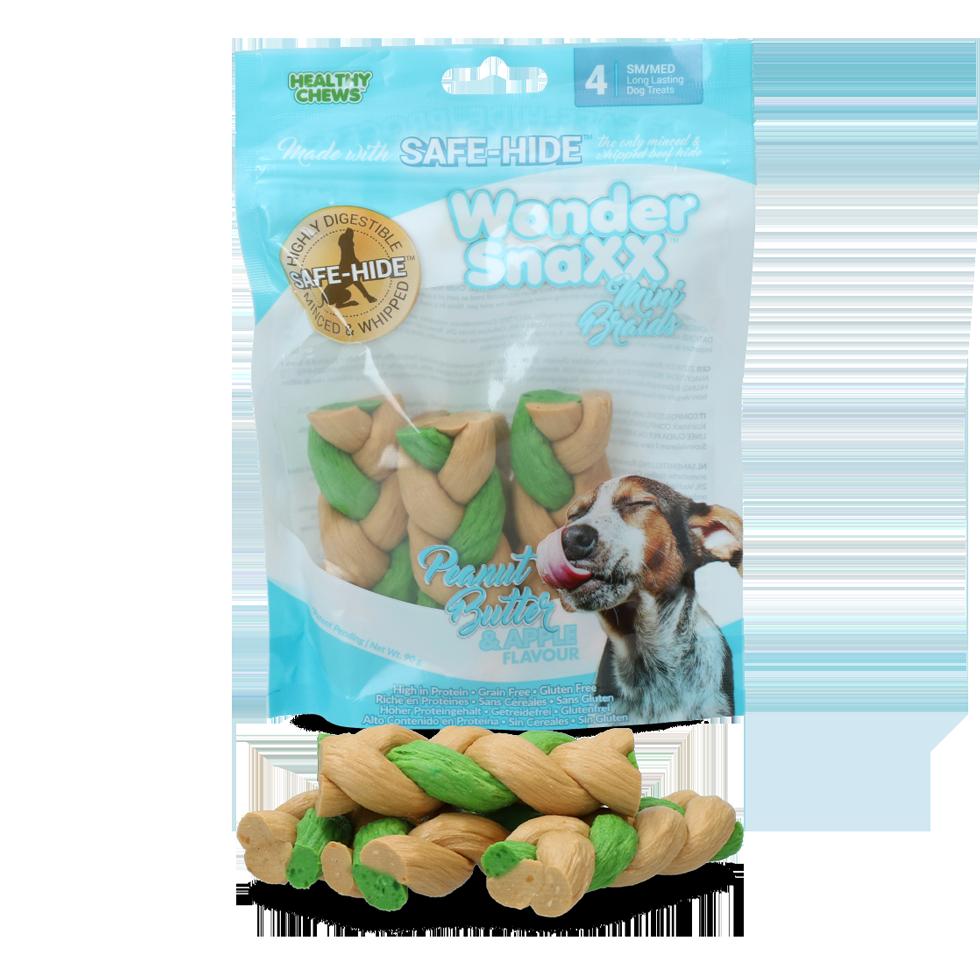 Healthy chews Wonder Snaxx MINI Braid pinda en appel