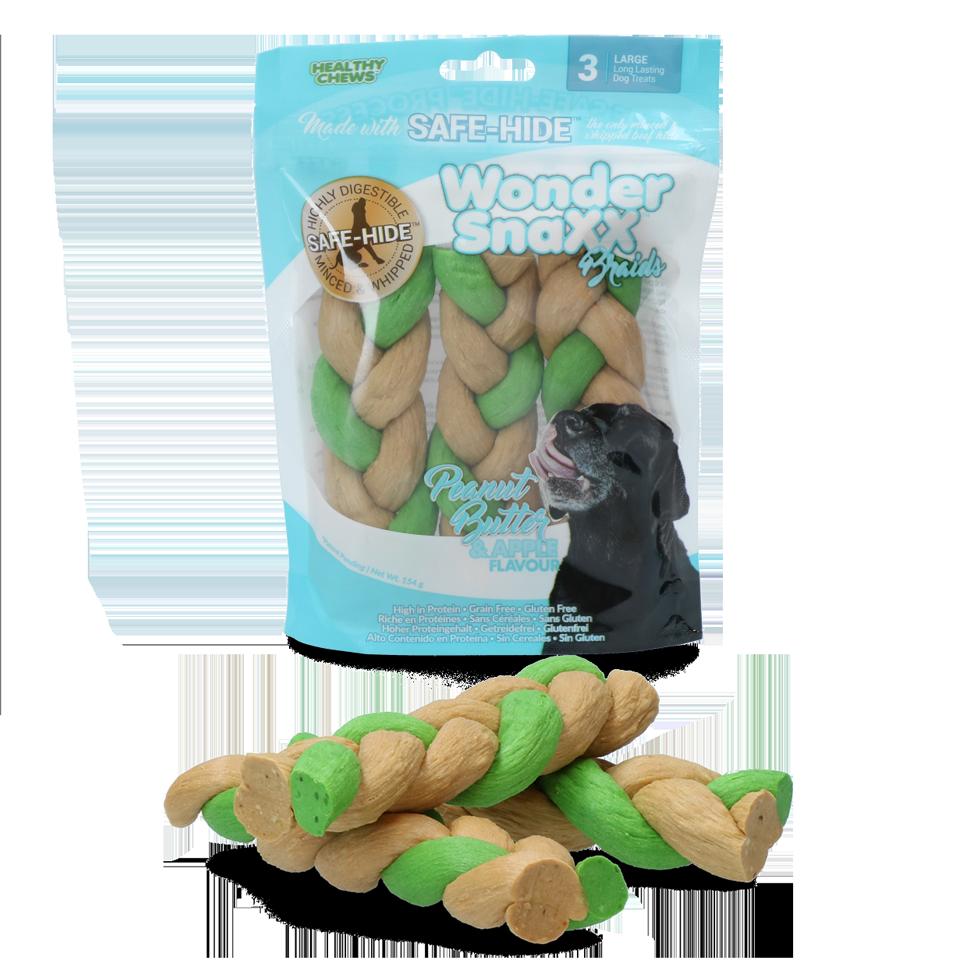 Healthy chews Wonder Snaxx Braid pinda en appel