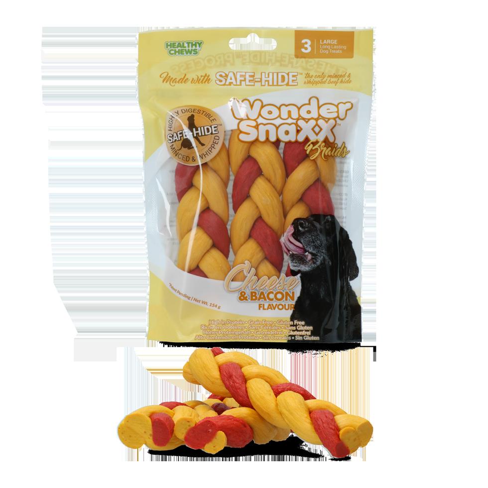 Healthy chews Wonder Snaxx Braid kaas en spek