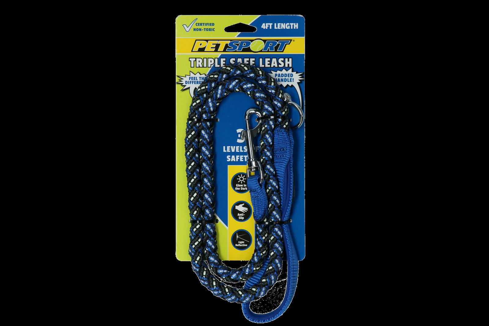 Petsport Triple Safe 4ft Leash Blauw