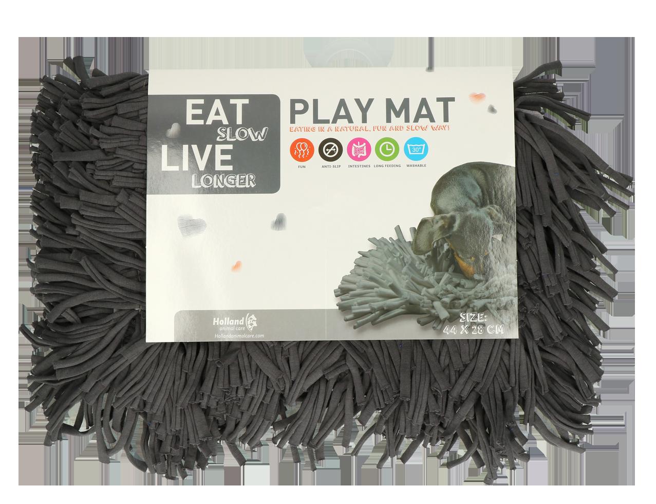Eat Slow Live Longer Play Mat Grey