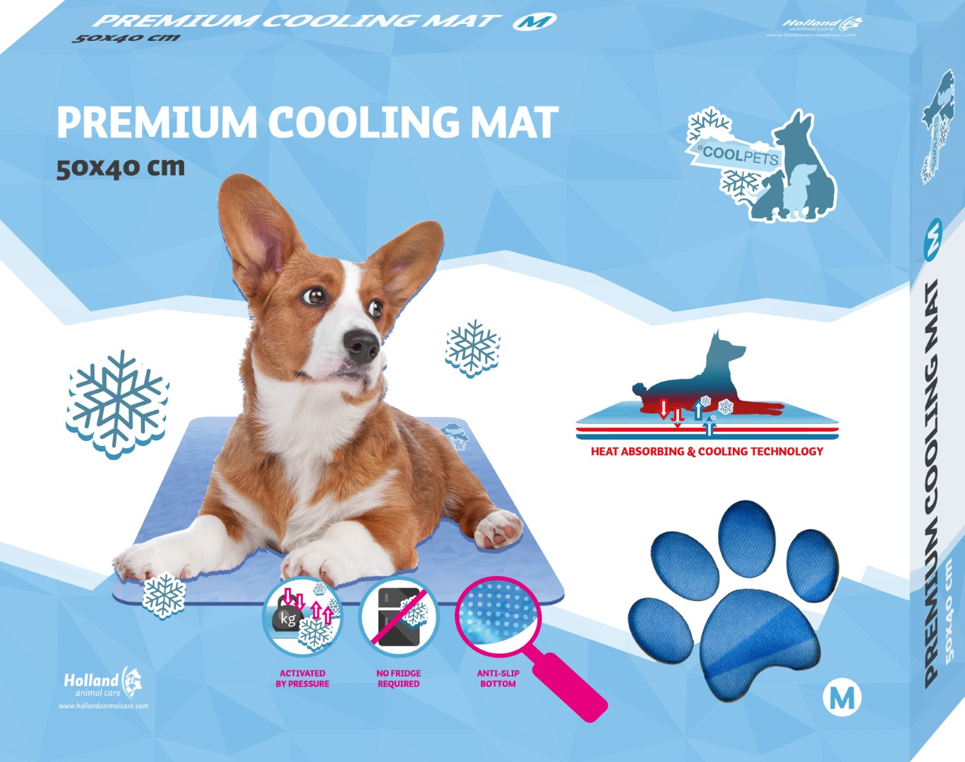 CoolPets Premium Cooling Mat M (50x40cm)