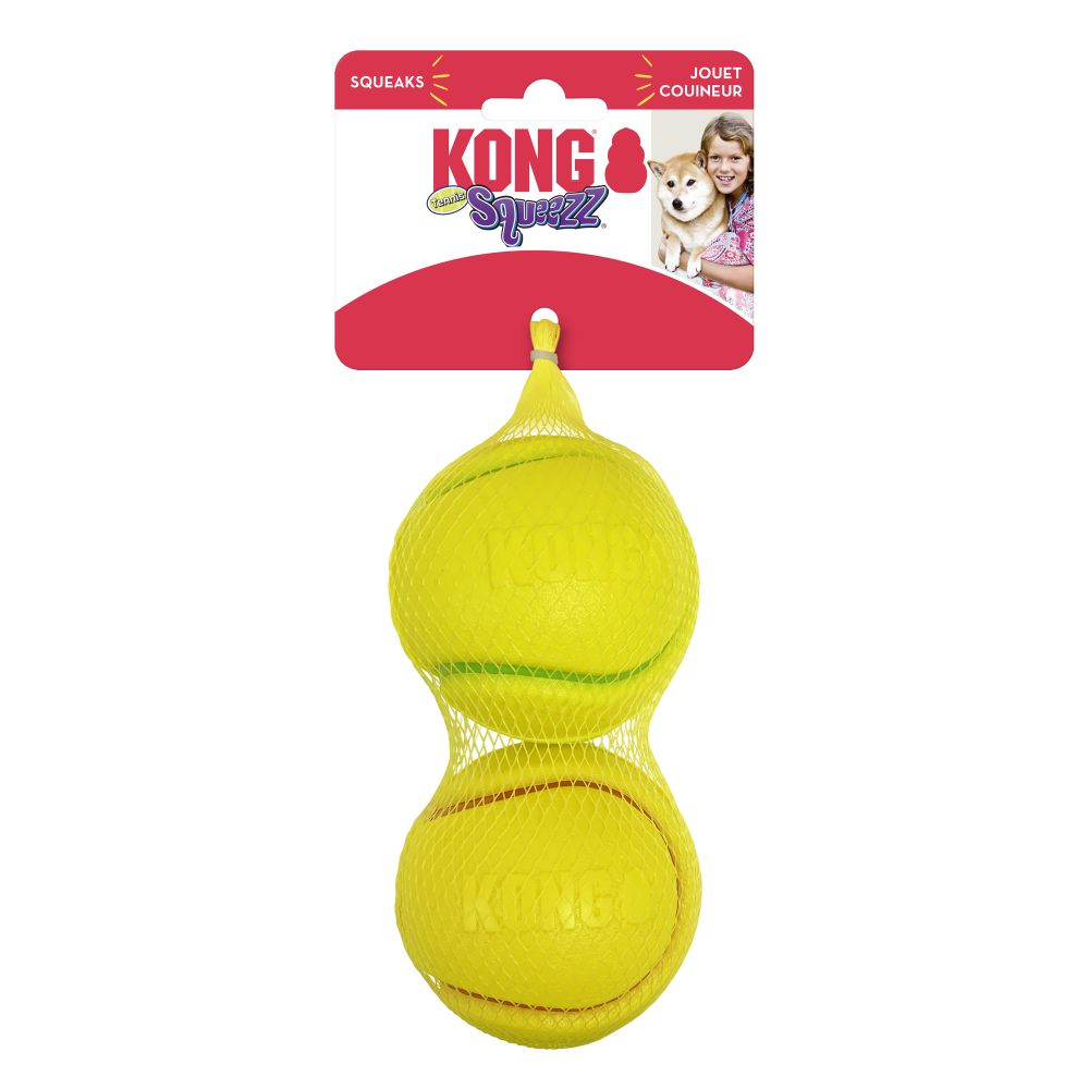 KONG Squeezz® Tennis Assorted Md 2pk