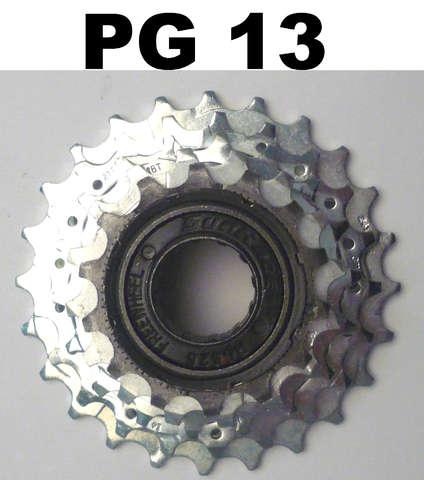 Merkloos Freewheel 5v 14/24 chroom sa/sunrace
