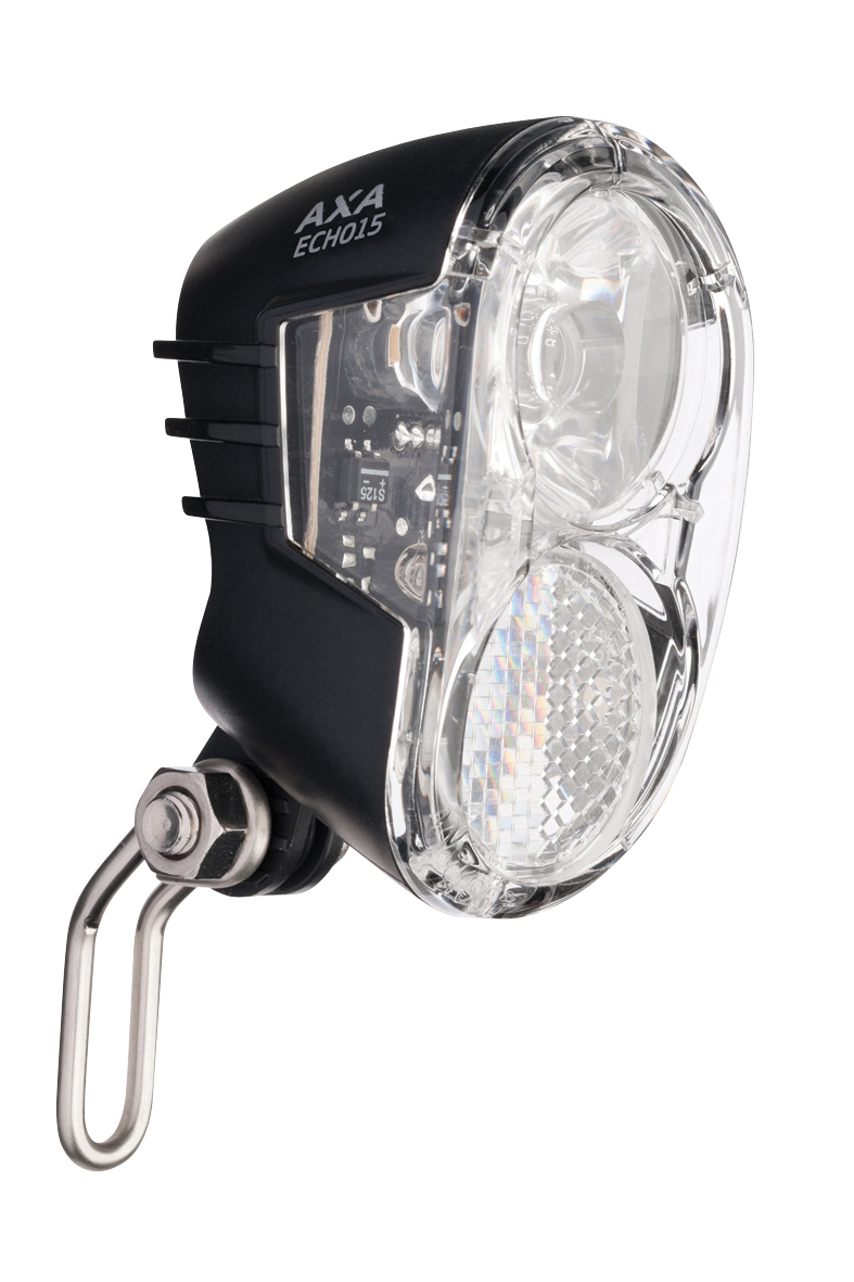 Axa koplamp Echo switch aan/uit dynamo 15 lux zwar