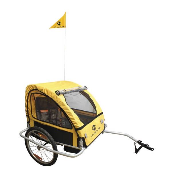 M-wave Kinder fietsaanhangwagen / bagageaanhangwagen van