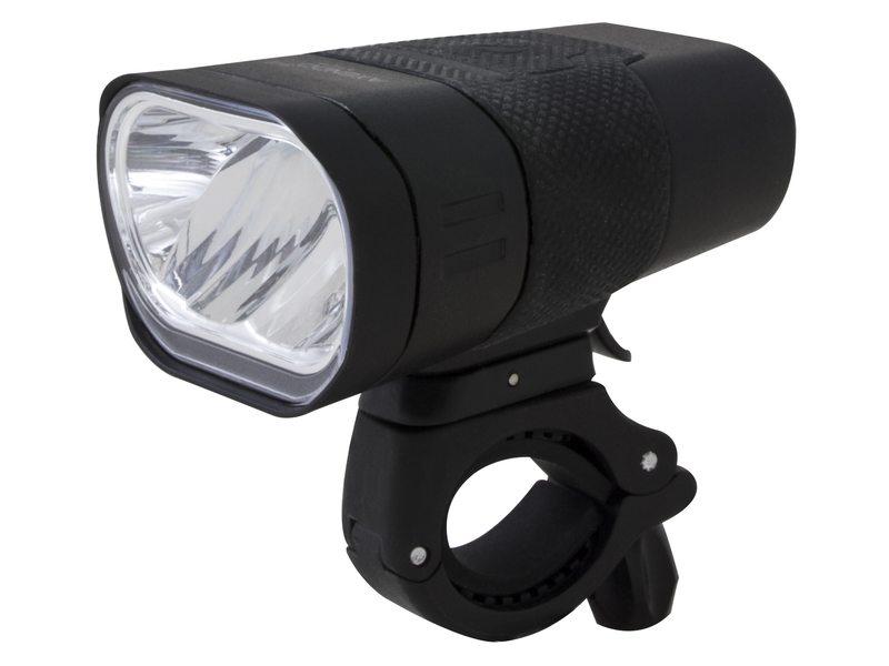 SPANNINGA LED koplamp Axendo 60 Presentatieverpakking, accu-voeding, USB, met Duits