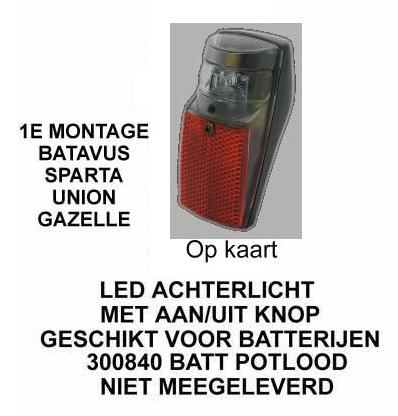 Spanninga A.licht spann. spxb-led on/off-switch