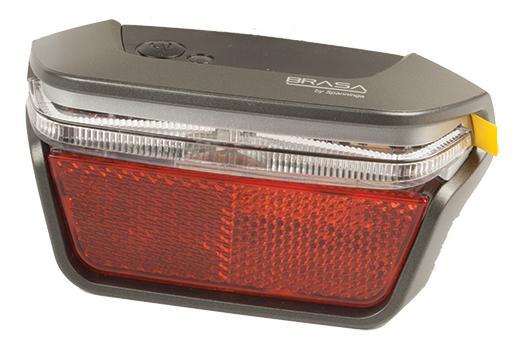 SPANNINGA LED achterlicht Brasa XB Presentatieverpakking, batterijvoeding,