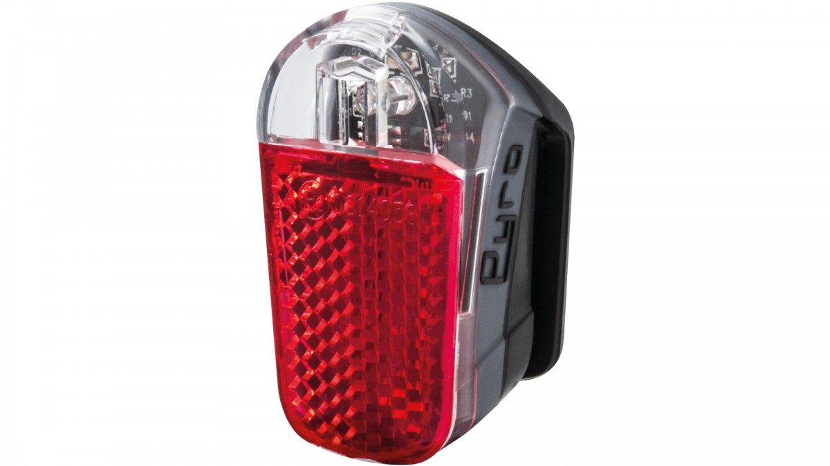 SPANNINGA LED achterlicht Pyro Presentatieverpakking, batterijvoeding, zadelpen