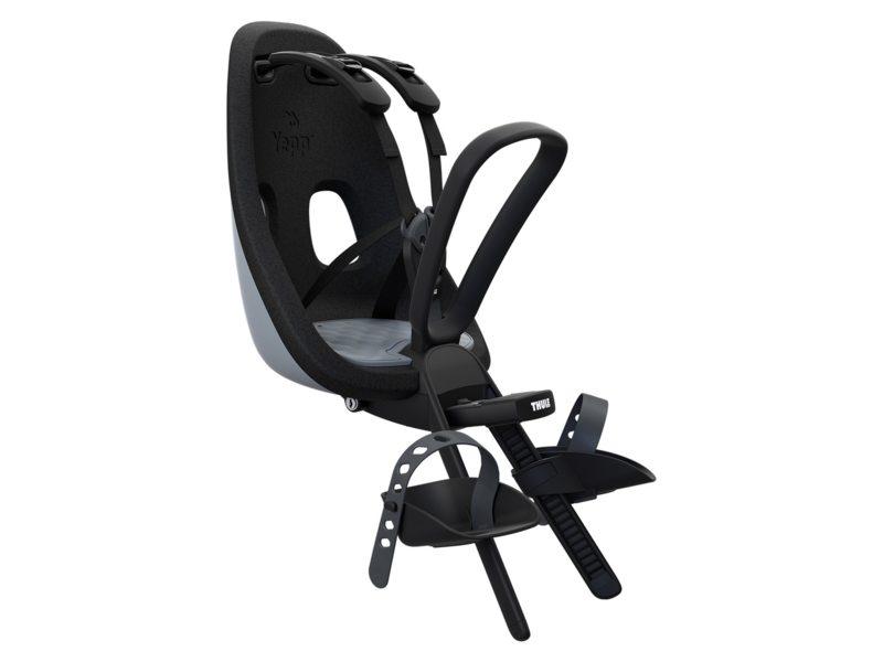 THULE kinderzitje Yepp Nexxt Mini Voorop, zitpositie in fietsrichting tussen stuur en