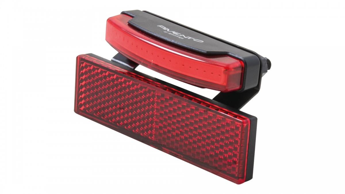 SPANNINGA LED achterlicht Pimento XDS Presentatieverpakking, bagagedrager montage,